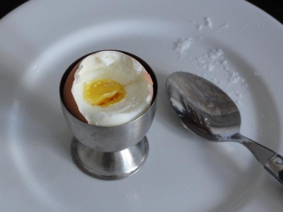 Boiled organic free range egg